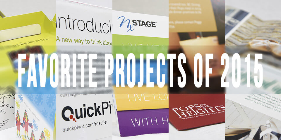 collage of print projects