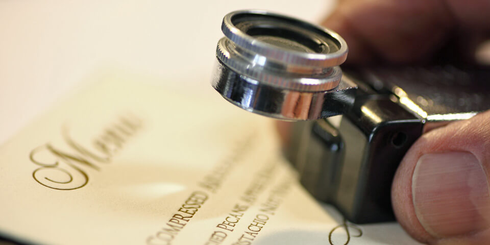 Magnifying Glass over Print