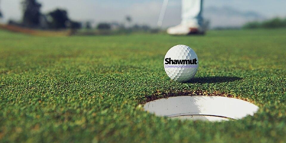 shawmut branded golf ball