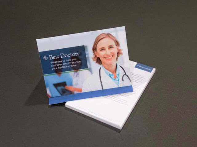 best doctors iron cross mailer and notepad