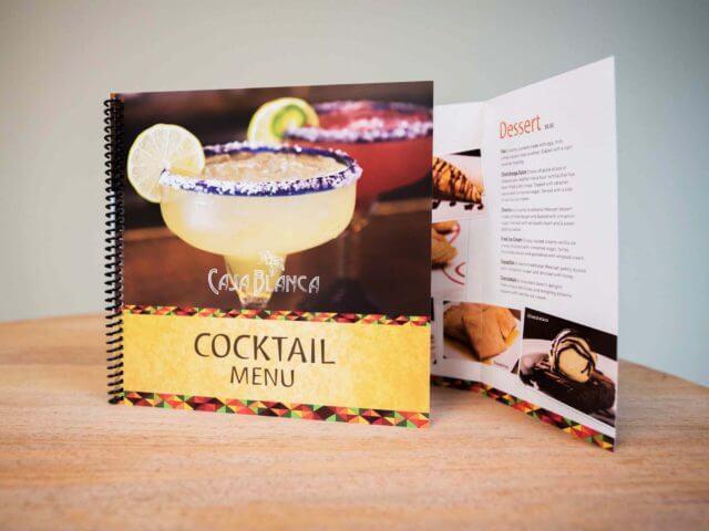 casa blanca cocktail menu
