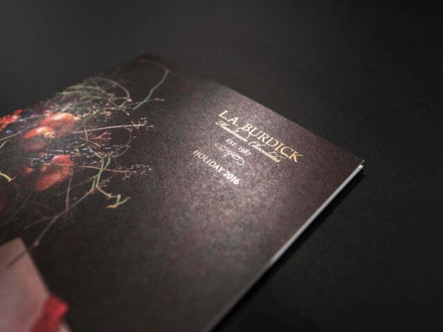 LA Burdick holiday catalog