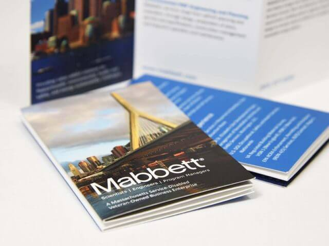 mabbett pocket sized brochure