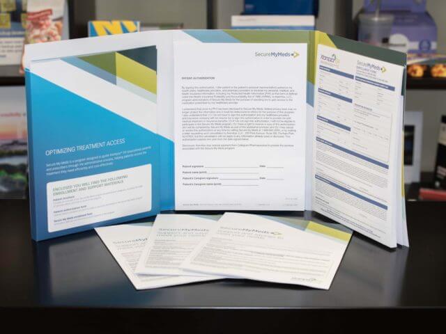 pharmaceutical custom box folder