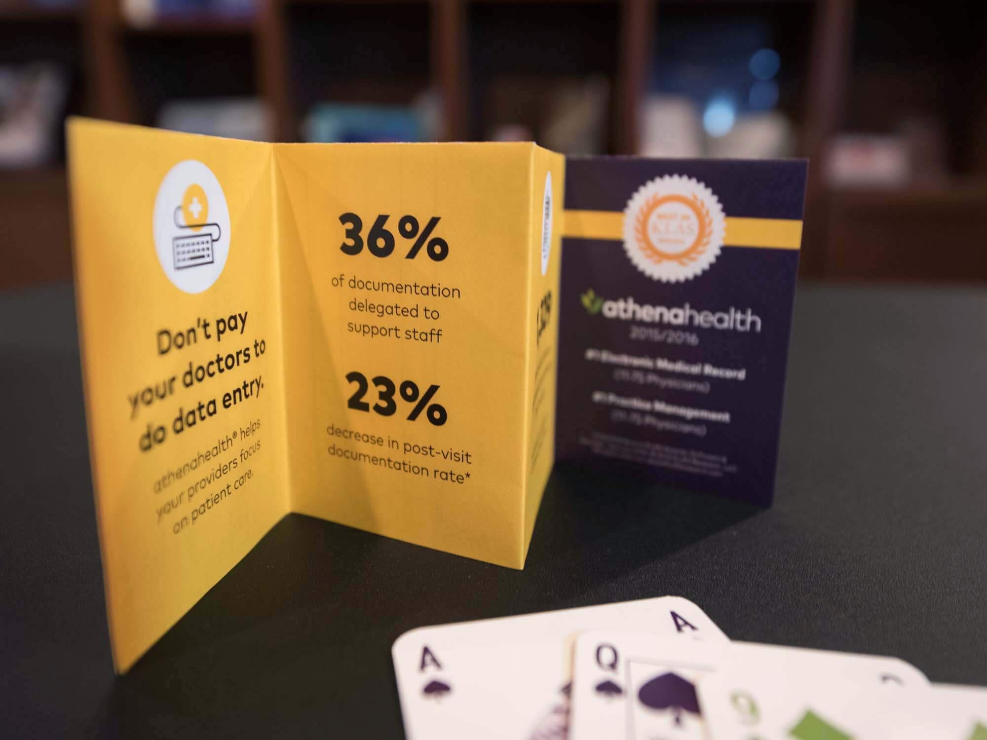 athenahealth playing cards direct mail campaign
