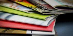 pile of print catalogs