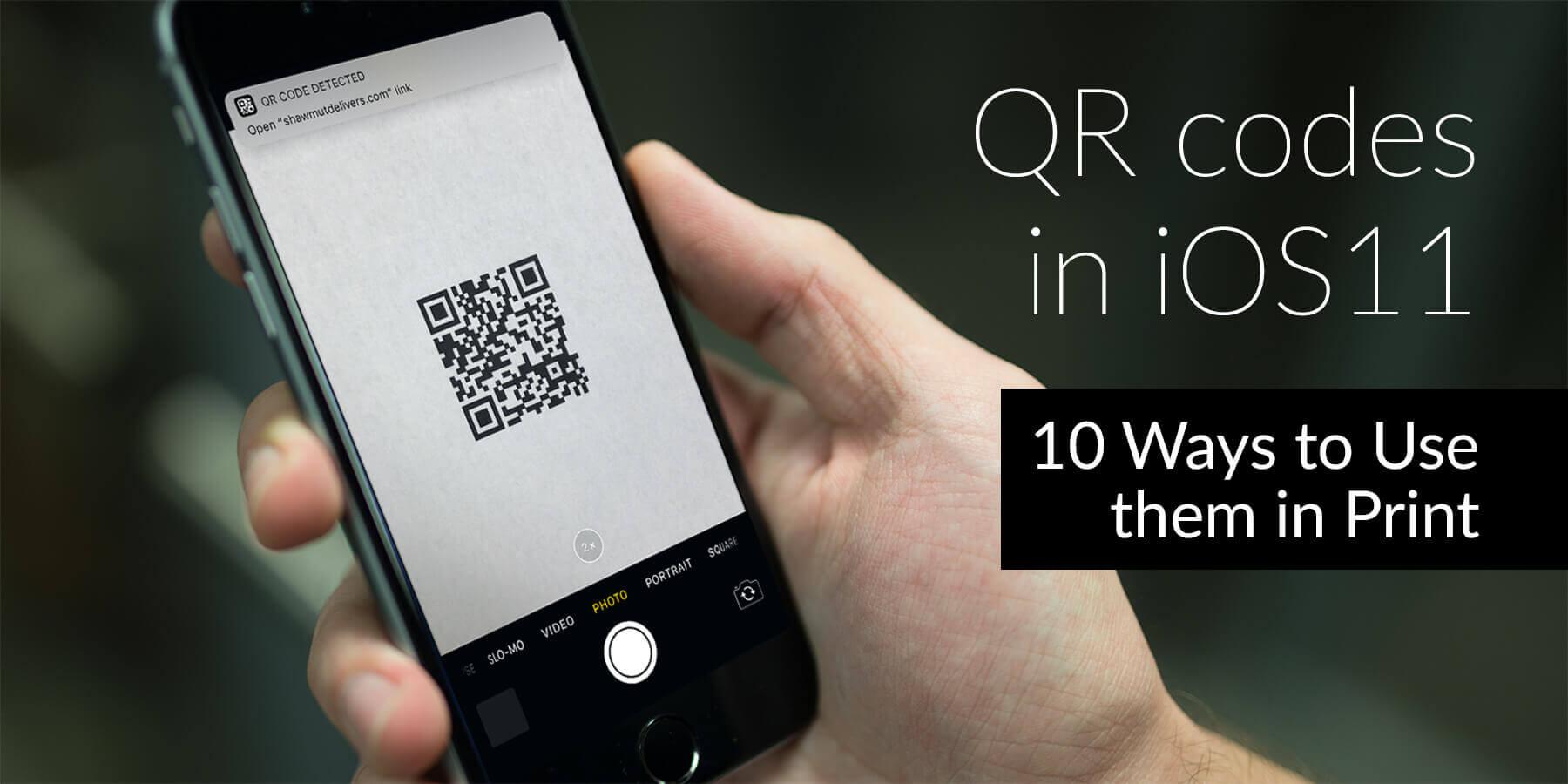 iOS11 QR code