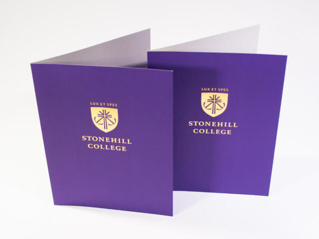 Stonehill College Pocket Folder