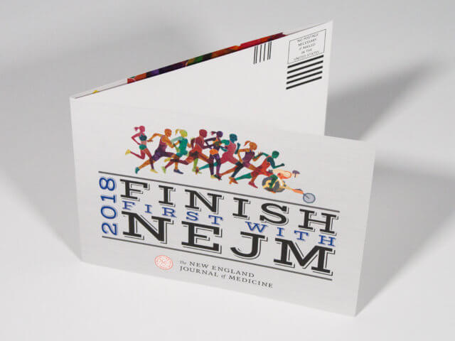 "New England Journal of Medicine ""Finish First"" Self-Mailer"