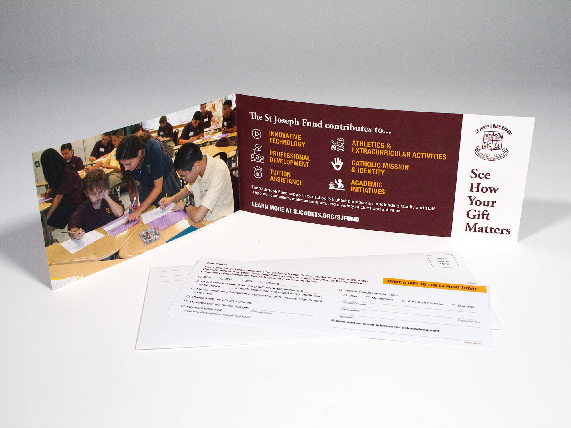 St Joseph High School Fundraising Package Mailer