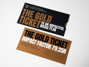 """New England Journal of Medicine """"The Gold Ticket"""" Sleeve Self-Mailer"""
