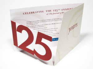 "The Journal of Bone & Joint Surgery ""125 Years"" Die-Cut Mailer"