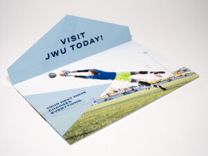Johnson & Wales University Die-Cut Event Mailer