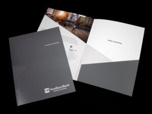 Needham Bank Pocket Folder